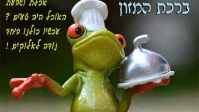 Photo of ברכת המזון