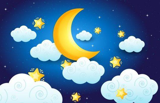 ירח,לילה,כוכבים,ענן,חלומות